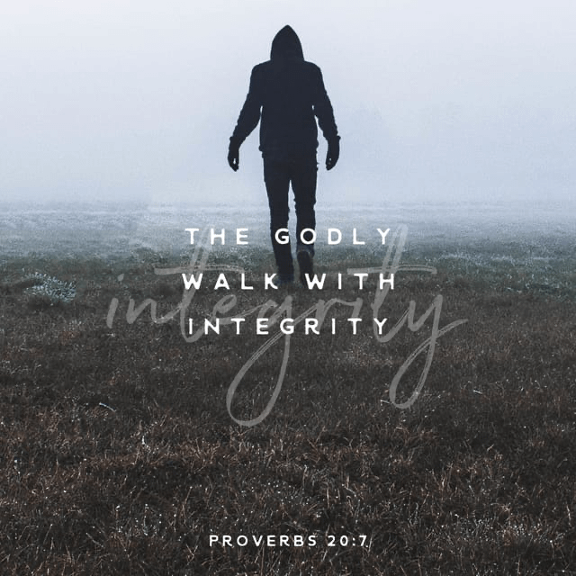 Verse image for Nick Vogel's Proverbs 20:7 Devotional
